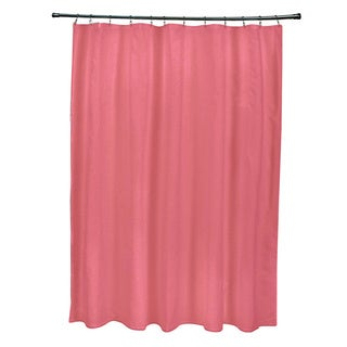 71 x 74-inch Coral Solid Shower Curtain