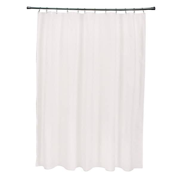 71 x 74-inch Cream Solid Shower Curtain