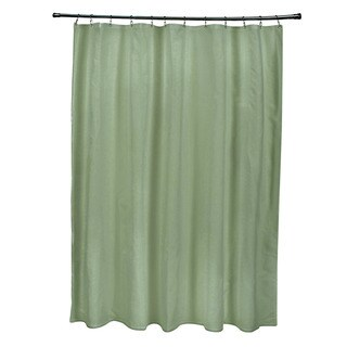 71 x 74-inch Green Tea Solid Shower Curtain