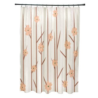 71 x 74-inch Branches and Flowers Floral Shower Curtain