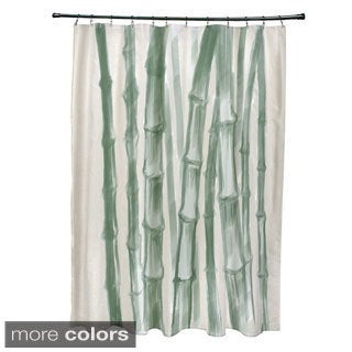 71 x 74-inch Sketched Bamboo Shower Curtain
