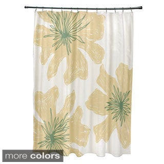 71 x 74-inch Natural Floral Bouquet Print Shower Curtain