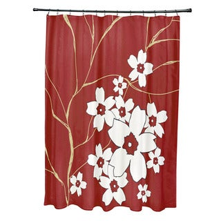 71 x 74-inch Floral Spray Shower Curtain
