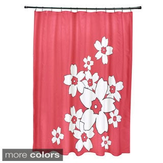 71 x 74-inch Floral Cluster Print Shower Curtain