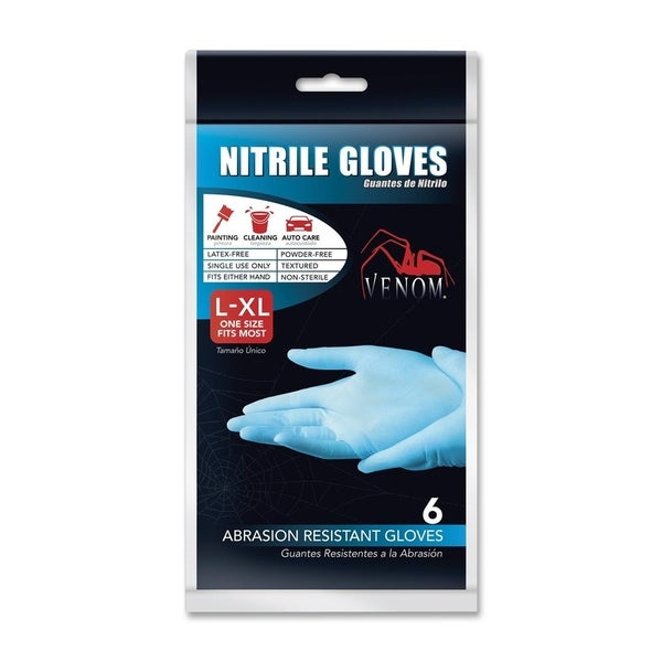 Medline Venom Disposable Nitrile Gloves (Pack of 6)