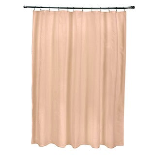 71 x 74-inch Peach Solid Shower Curtain