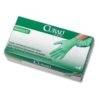 Medline Curad AloeTouch PF Latex Small Size Exam Gloves (Box of 100)