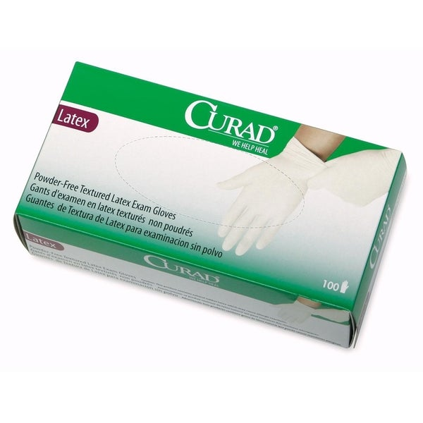 Medline Curad Powder Free Latex Large Size Exam Gloves (Box of 100)