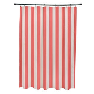 71 x 74-inch Latte Striped Shower Curtain
