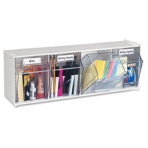 Deflect-o Modular 4-compartment Tilt Bin Storage System