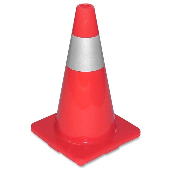 Tatco Sturdy Molded Reflective Orange Traffic Cone