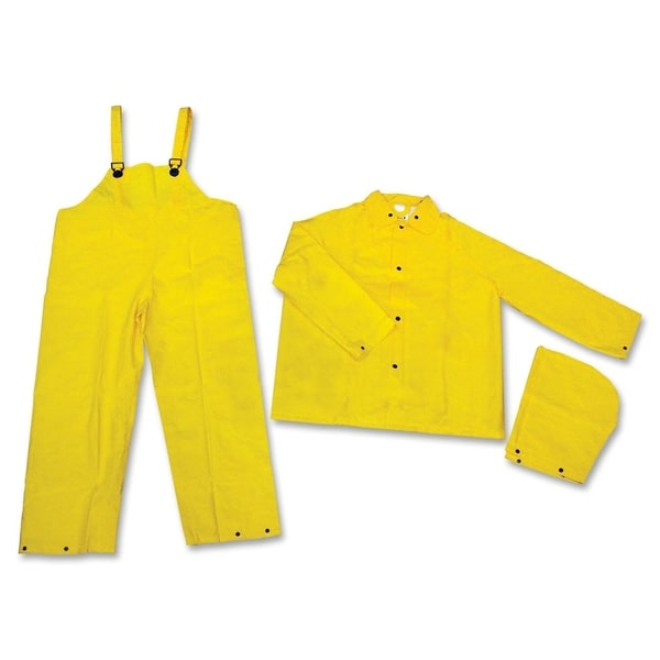 MCR Safety Extra Large Yellow 3-piece Rainsuit