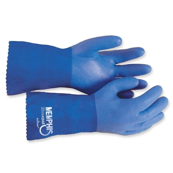 MCR Safety Blue Coat Seamless Gloves (Box of 2)