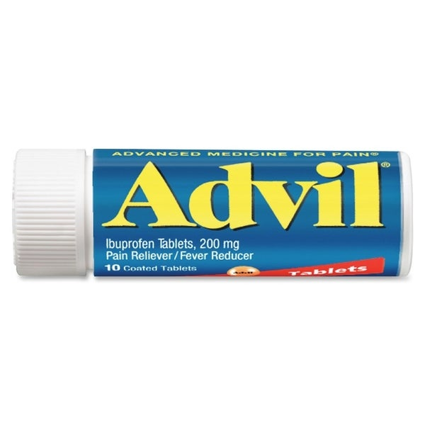 Acme Advil Coated 200mg Ibuprofen Tablets Vial