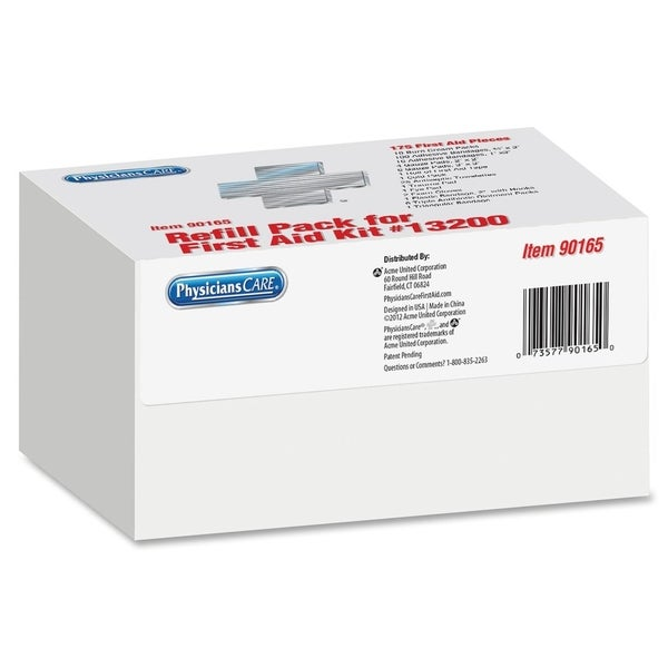 Acme Weatherproof First Aid Refill Kit (Box of 169)