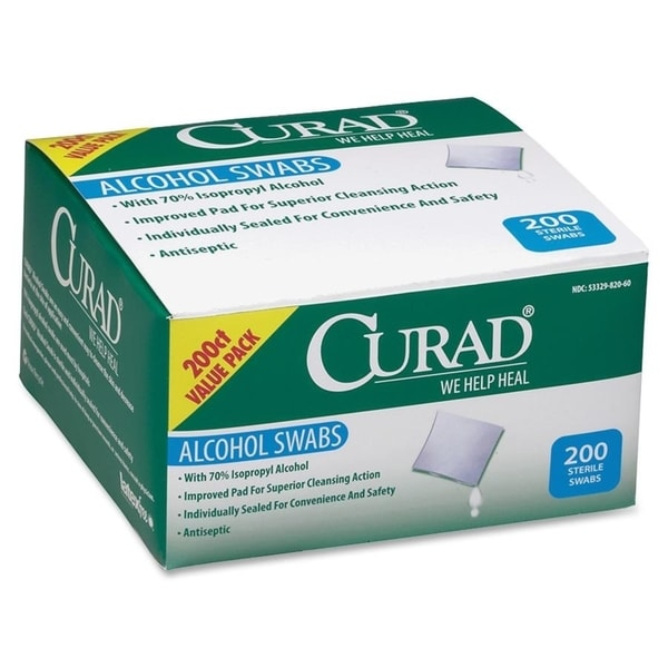 Medline CURAD Sterile Alcohol Prep Pads (Box of 200)