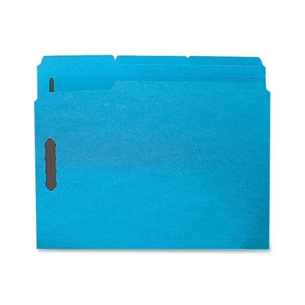 Sparco Blue Colored Letter Fastener Folders with 2-ply Tab (Box of 50)