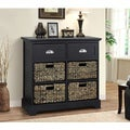 Gallerie Decor Newport 2-drawer 4-basket Table