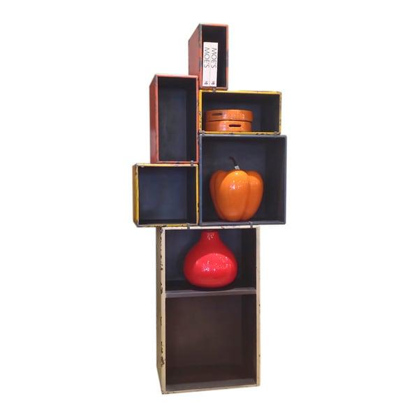 Aurelle Home Retro Multicolored Shelf with Detachable Parts