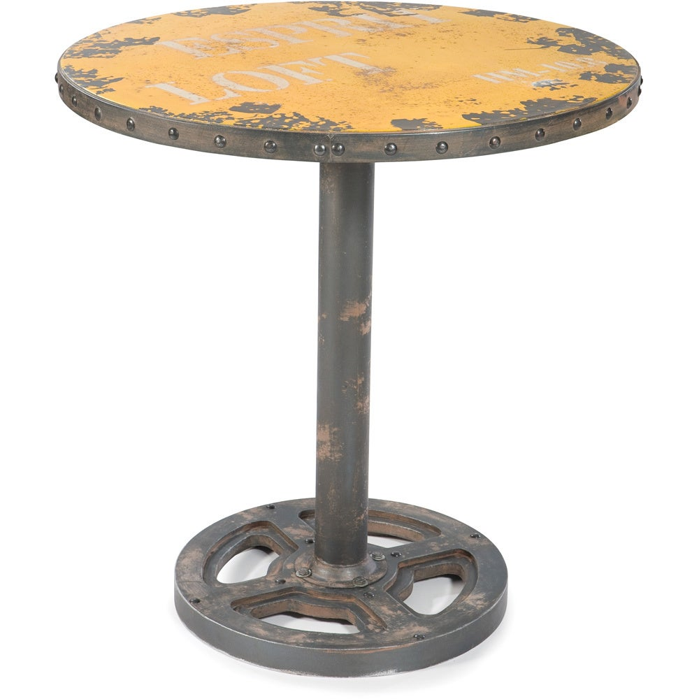 Distressed Round Dining Table