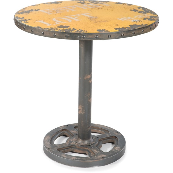 Aurelle Home Industrial Round Dining Table 16679248
