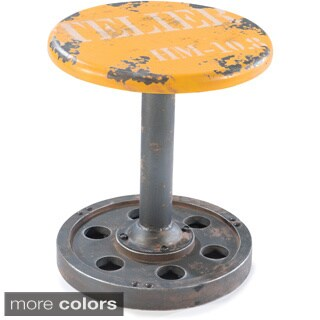 Aurelle Home Peterson Wood and Metal Stool