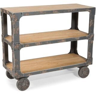 Natural Wood Rolling Shelf