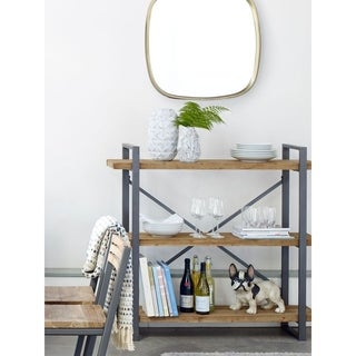 Industrial Wood and Metal 3-tiered Shelf