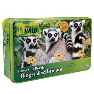 Uncle Milton Nat Geo Wild Lemurs Panarama Puzzle