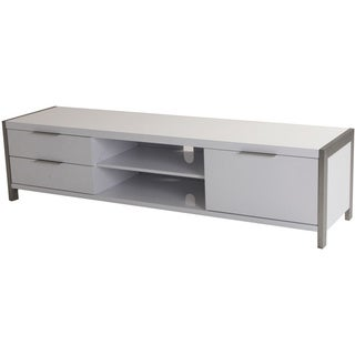 Aurelle Home White lacquer Modern TV Stand