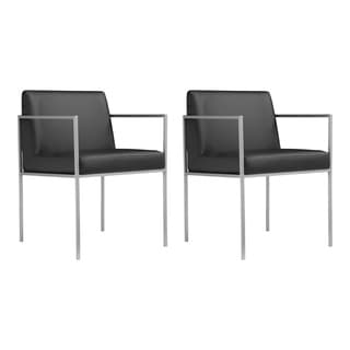Aurelle Home Valencia Modern Dining Armchairs (Set of 2)