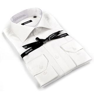 Georges Rech Men's White Button-down Dress Shirt