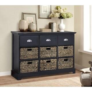 Gallerie Decor Newport 3-drawer 6-basket Table
