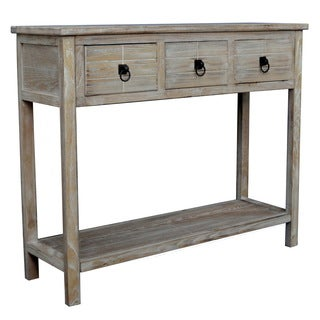 Gallerie Decor Driftwood 3-drawer Table