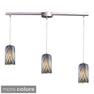 Elk Lighting Molten 1-light Satin Nickel/ Glass Pendant