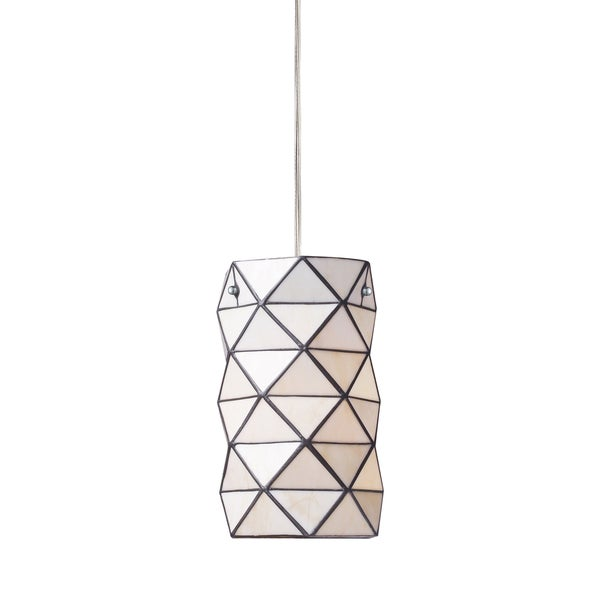 Elk Lighting Tetra Single-light Chrome and Geometric Glass Pendant