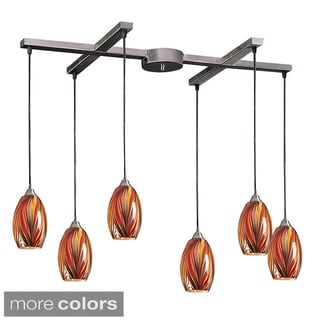 Elk Lighting Mulinello 6-light Satin Nickel Pendant