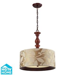 Elk Lighting HGTV Home Nathan 3-light Dark Walnut Pendant