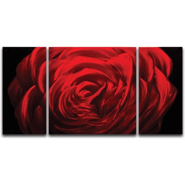 Midnight Rose' Metal Wall Art 14095894