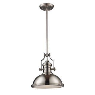 Chadwick Single-light Medium Satin Nickel Pendant