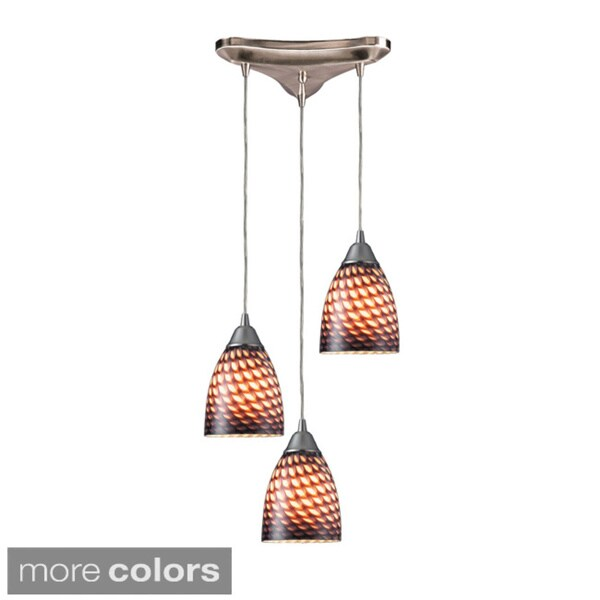 Elk Lighting Arco Baleno 3-light Satin Nickel Pendant