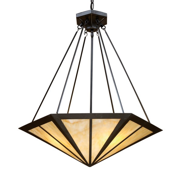 Oak Park 3-light Tiffany-style Bronze Pendant