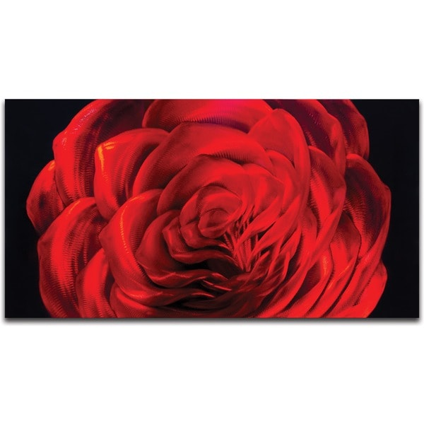 'Midnight Rose' Small Metal Wall Art 14096147
