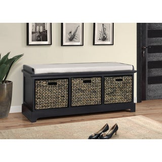 Gallerie Décor Newport Three Basket Storage Bench