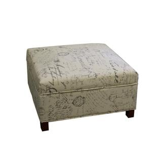 Old World Squared Storage Ottoman