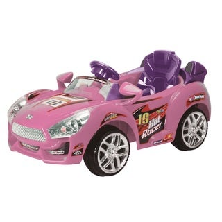 Best Ride On Cars Pink Convertible Ride-on Car