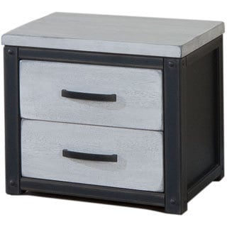 Heritage Cloudy White 2-drawer Nightstand