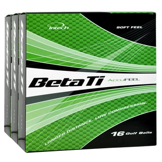 Intech Beta Ti AccuFeel Golf Balls White 3 Box Bundle 48 Pack
