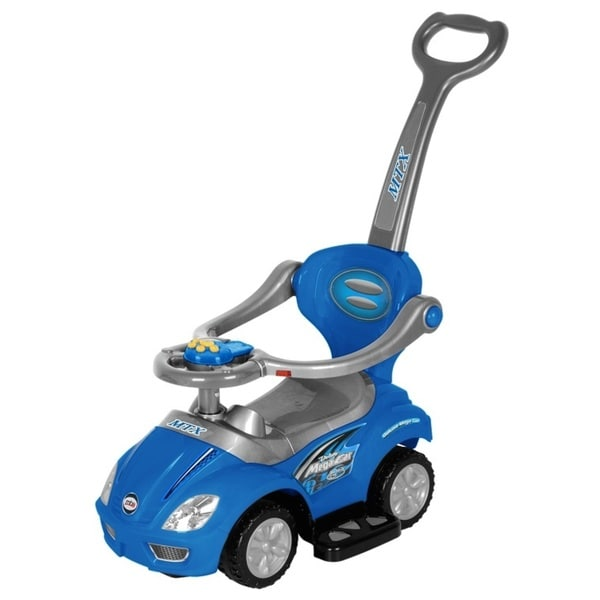 Best Ride On Cars Blue 3-in-1 Push Car