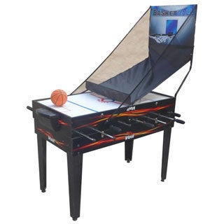 "Voit 48"" 4 in 1 Table Game Foosball Air Hockey Pool Basketball"